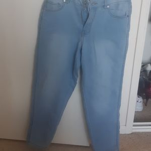 Wide light blue pant I have never worn out.
